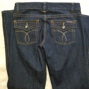 Calvin Klein Med Wash Button Flap Straight Leg